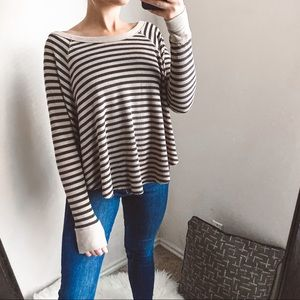 we the free - striped swing thermal top textured